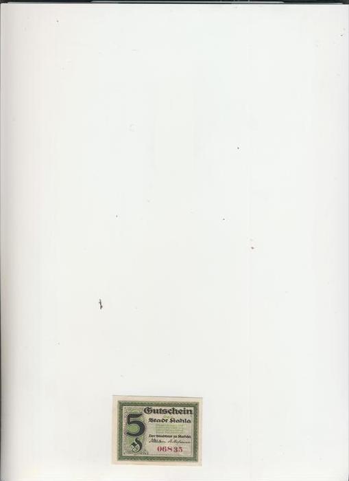 Kahla v. 1920   5 Pfennig  ---   ( NOTGELD )   (1475)