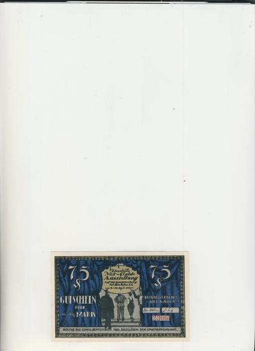 Kahla v. 1921  3/4 Mark Stadtverkehrsamt  ---   ( GUTSCHEIN )   (1478)