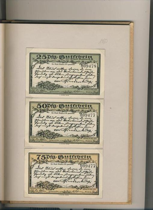 Kahla v. 1921  25,50,75 Pfennigt  ---   ( GUTSCHEIN )   (1480)