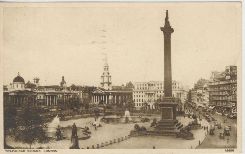 London v. 1946   Trafalgar Square --- siehe Foto !!    ( 36244 )