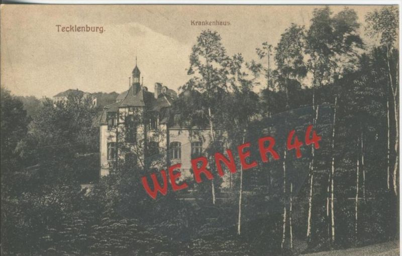Tecklenburg v. 1928  Das Krankenhaus  --  siehe Foto !!   (36447)