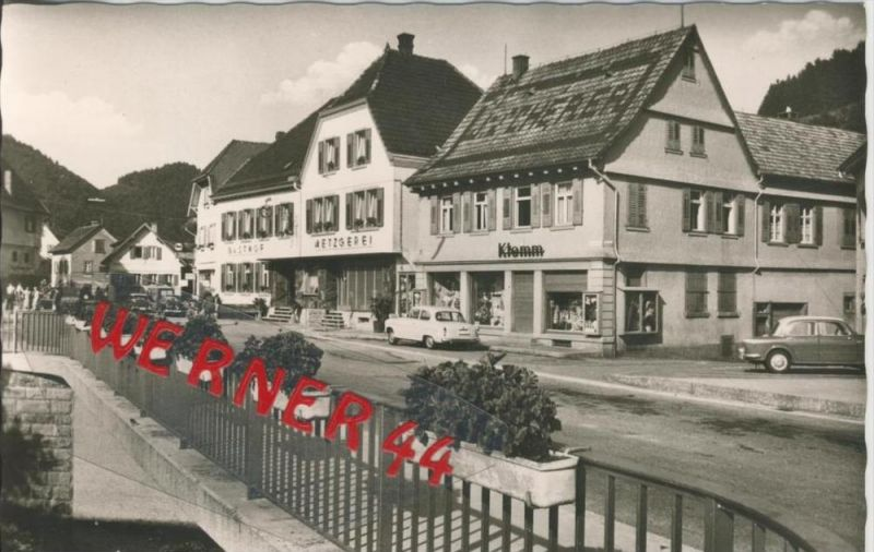 Schenkenzell v. 1963 Gasthof,Metzgerei,Klemm  --  siehe Foto !!   (36477)