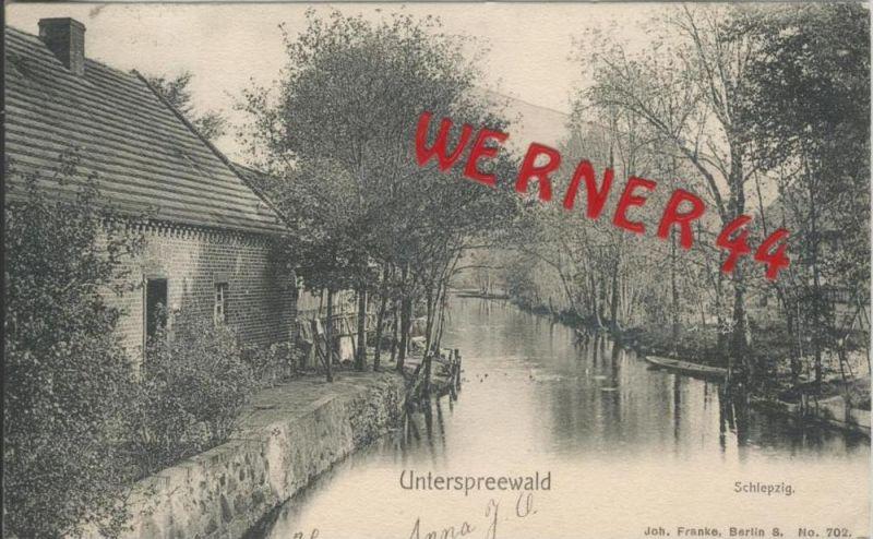 Schlepzig v. 1906   Unterspreewald mit Gehöft  --  siehe Foto !!   (36480)