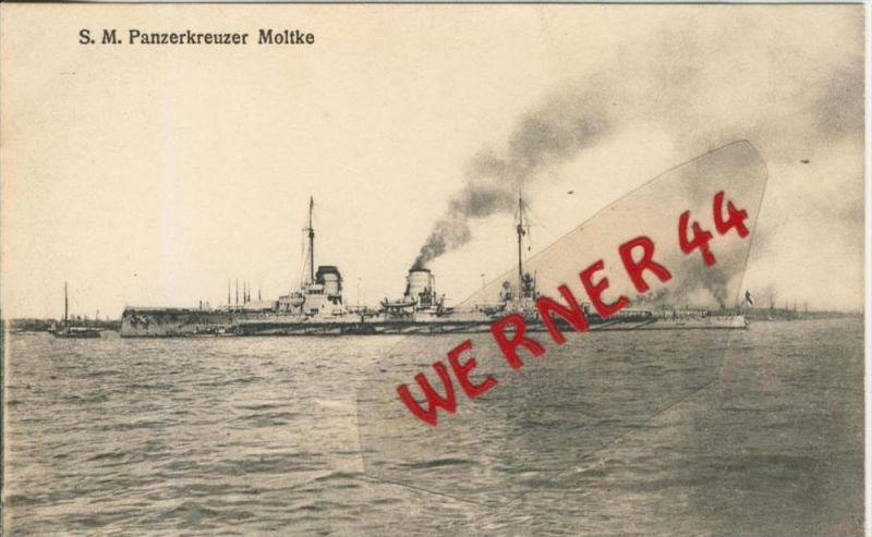 S.M. Panzerkreuzer Moltke v. 1910 --  siehe Foto !!   (36553)
