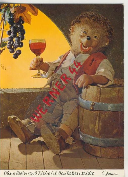 Mecki Karte v. 1962   Ohne Wein und Liebe  ---  siehe Foto !!   (27784)
