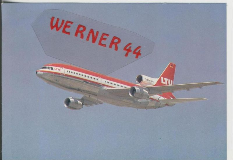 Flugzeug v. 1982  TriStar L-1011-500 LTU  ---  siehe Foto !!   (27793)