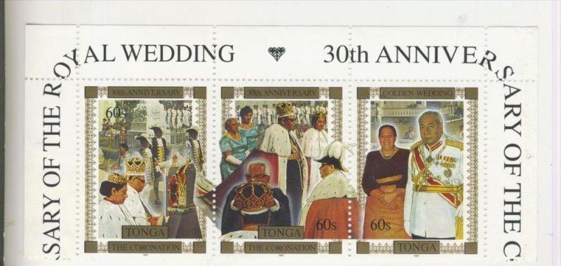 Tonga v. 1989   3 x 60 S   --  Golden Wedding ......(9)