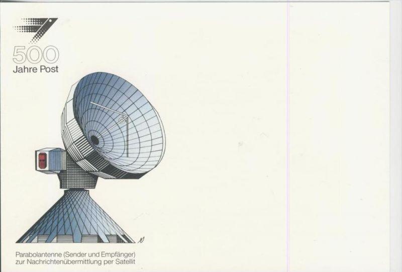 Bonn -- Werbeblatt 500 Jahre Post -- Parabolatenne  (114)