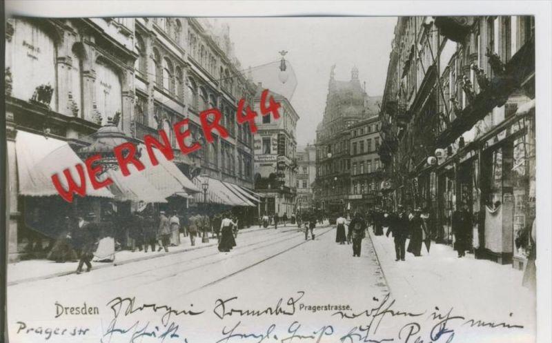 Dresden v. 1908  Pragerstrasse  ---  siehe Foto !!   (28500)