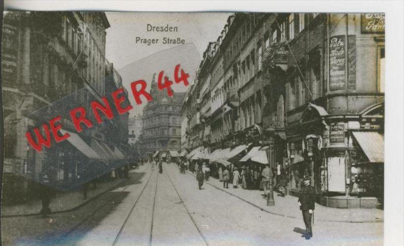 Dresden v. 1914  Pragerstrasse  ---  siehe Foto !!   (28501)