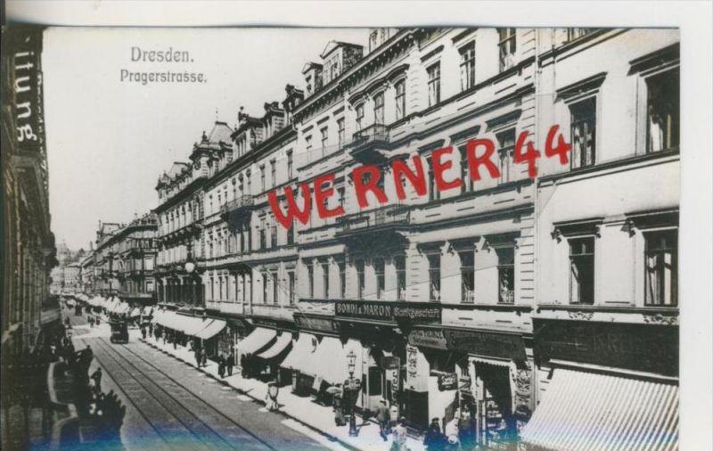 Dresden v. 1904  Pragerstrasse mit Bondi & Maron Sankgeschäft  ---  siehe Foto !!   (28504)
