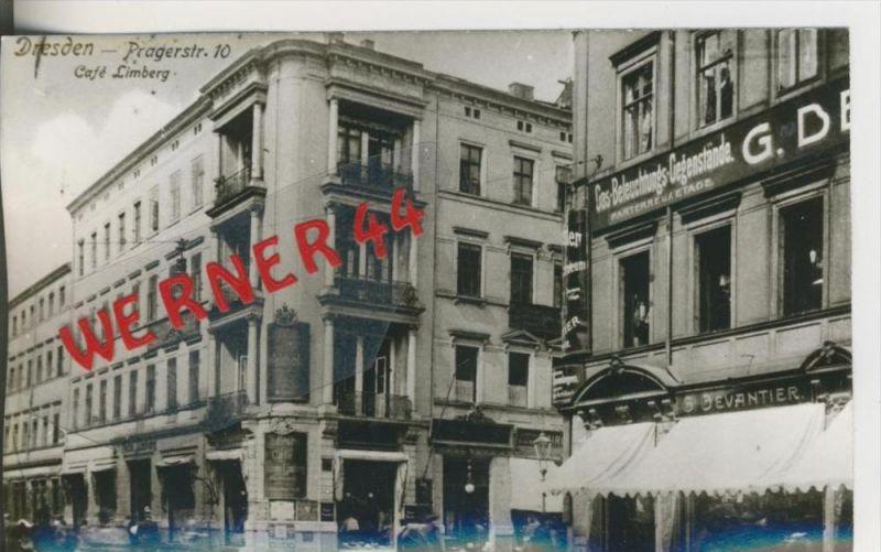Dresden v. 1906  Cafe Limberg,Pragerstrasse 10   ---  siehe Foto !!   (28505)