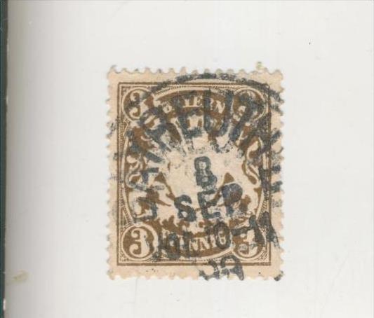 Bayern v. 1890  Wappen-Farbänderungen  -  3 Pfennig   (210)