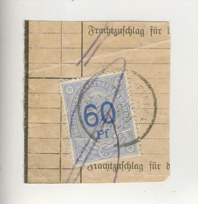 Preusz.Hess.Staatseisenbahnen ca. 1910  Zuschlagmarke -  60 Pfennig  (215)