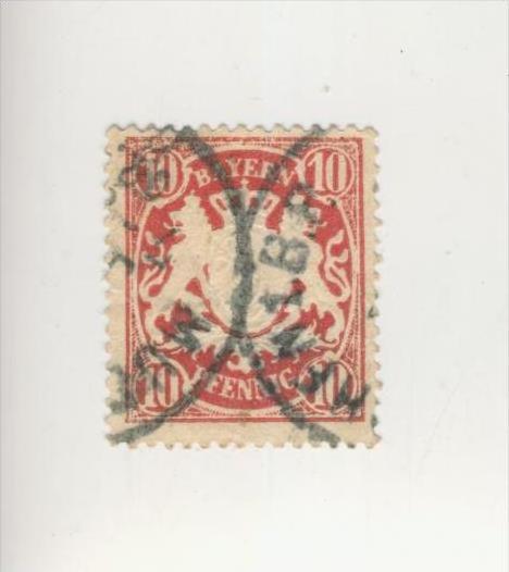 Bayern v. 1876  Wappen - Wertangabe in Pfennig  (229)