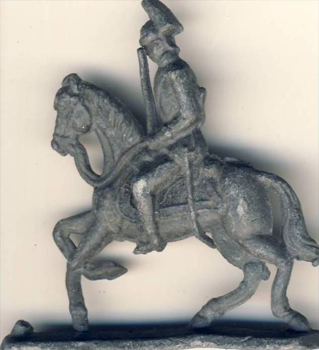 Antik-Zinn-Soldat auf dem Pferd mit Säbel ca. von 1938  --- siehe Foto !!   (4)