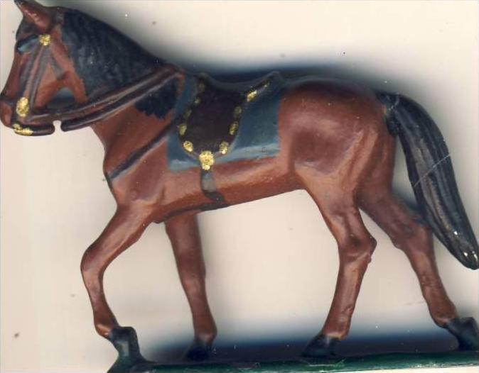 Antik-Zinn- Pferd gesattelt  ca. von 1938  --- siehe Foto !!   (7)