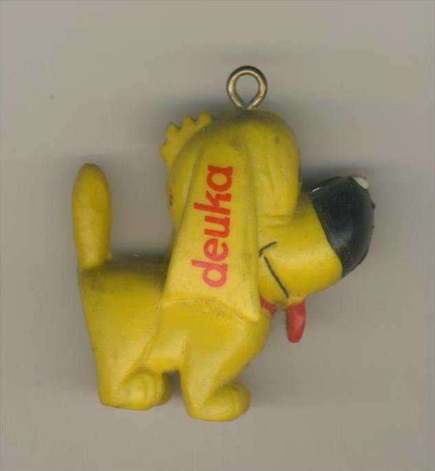 Firma Deuka v. 1958  Gelber Deuka - Hund  --  siehe Foto !!    (34)