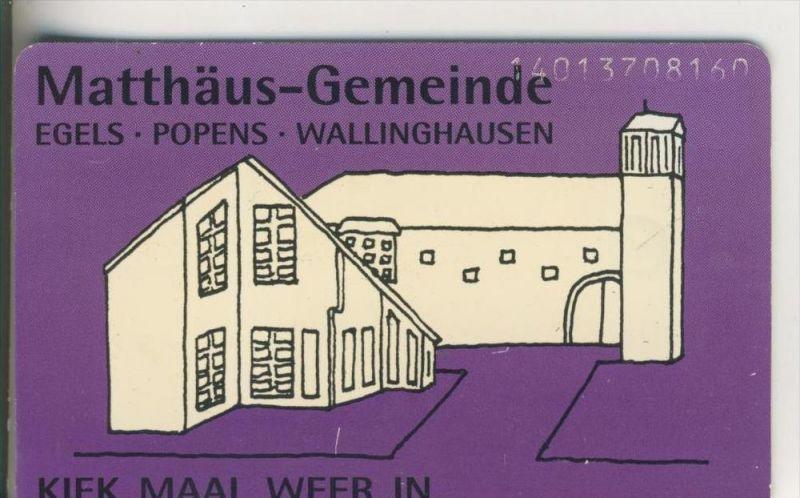 Telefonkarte v. Matthäus Gemeinde ,-- Egels-Popens-Wallinghausen v. Jan. 1994  (51)