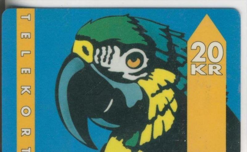 Telekort v. 1993  20 KR   Papagei  (57)