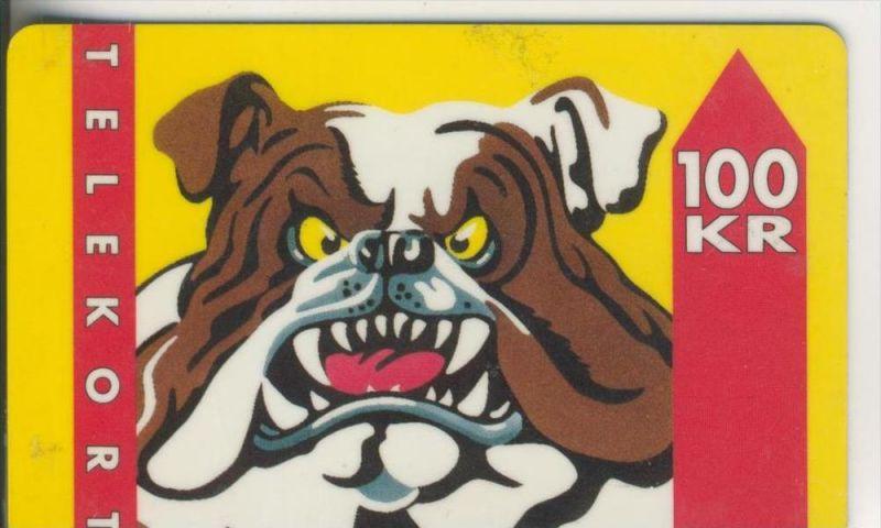 Telekort v. 1993  100 KR   Hund  (58)
