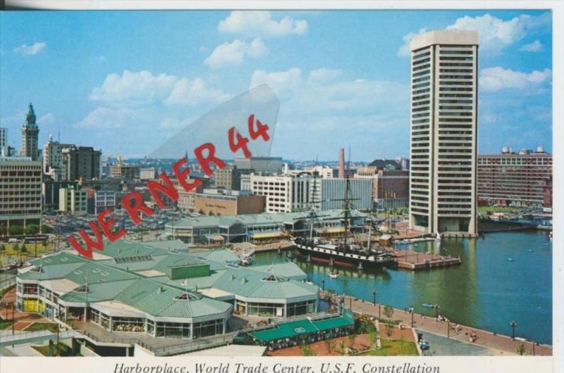 Baltimore v. 1982  Harborplace - World Trade Center  ---  siehe Foto !!   (29100)