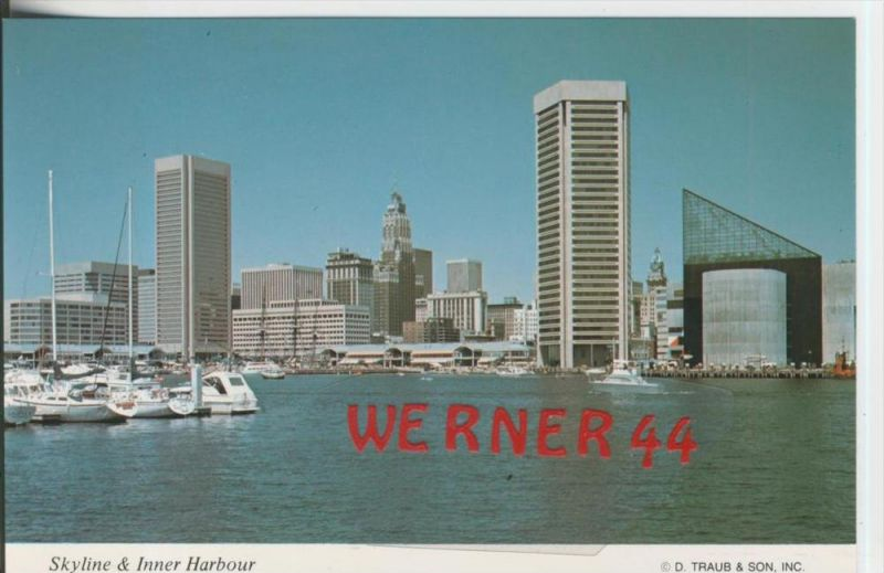 Baltimore v. 1982  Skyline and Inner Harbor  ---  siehe Foto !!   (29102)