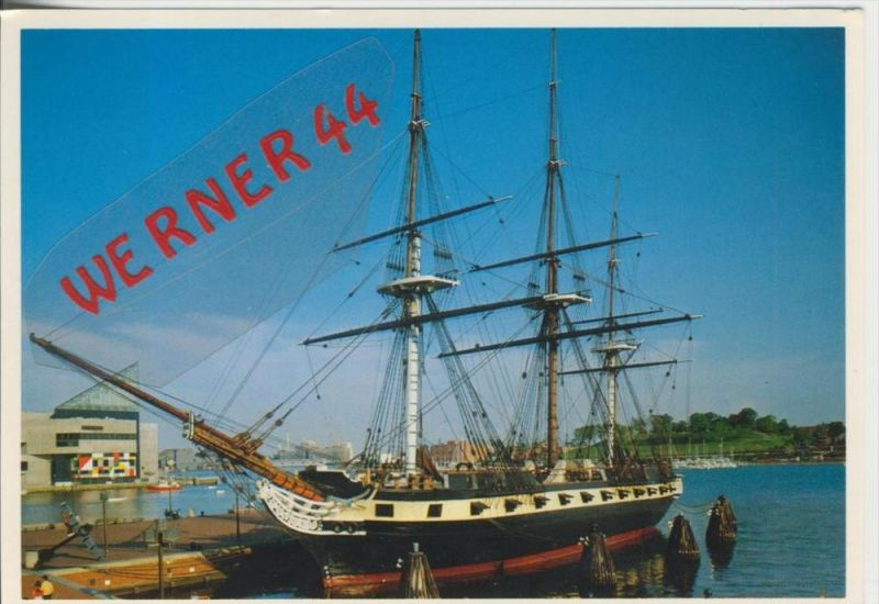 Baltimore v. 1982  U.S.F. Constellation and the National Aquarium  ---  siehe Foto !!   (29104)