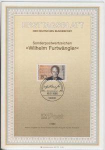Berlin (West) - ETB (Ersttagsblatt)  1 / 1986 -- Wilhelm Furtwängler
