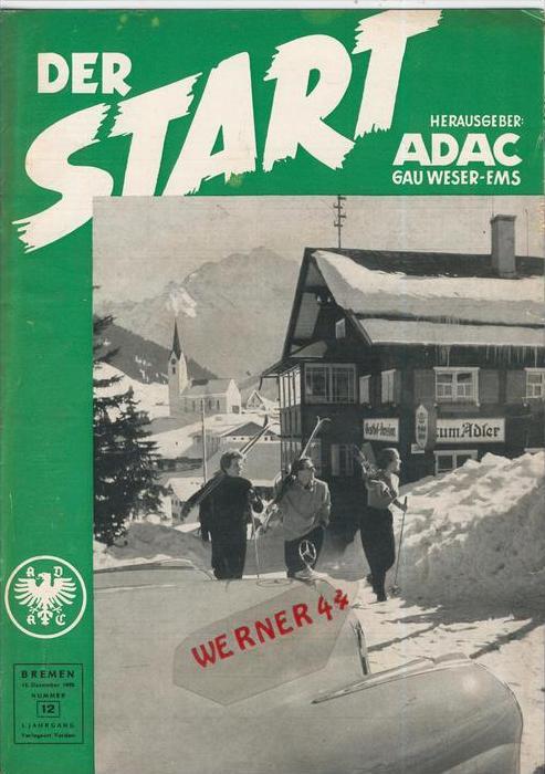 ADAC Gau Weser-Ems, Der Start  1955 - Nr. 12-- siehe beschr. !!