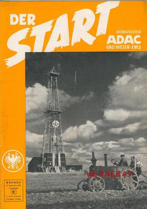 ADAC Gau Weser-Ems, Der Start  1955 - Nr. 9-- siehe beschr. !!