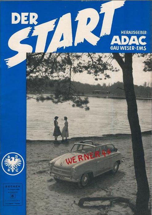 ADAC Gau Weser-Ems, Der Start  1955 - Nr. 8-- siehe beschr. !!