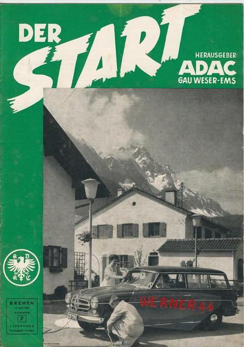 ADAC Gau Weser-Ems, Der Start  1955 - Nr. 7-- siehe beschr. !!