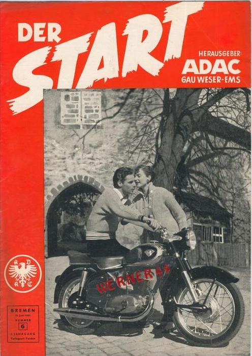 ADAC Gau Weser-Ems, Der Start  1955 - Nr. 6 -- siehe beschr. !!