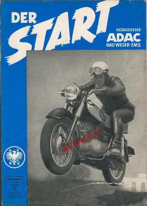 ADAC Gau Weser-Ems, Der Start  1955 - Nr. 5 -- siehe beschr. !!