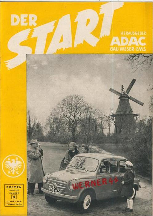 ADAC Gau Weser-Ems, Der Start  1955 - Nr. 4 -- siehe beschr. !!