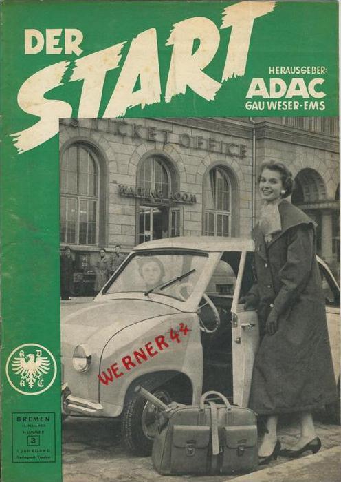 ADAC Gau Weser-Ems, Der Start  1955 - Nr. 3 -- siehe beschr. !!