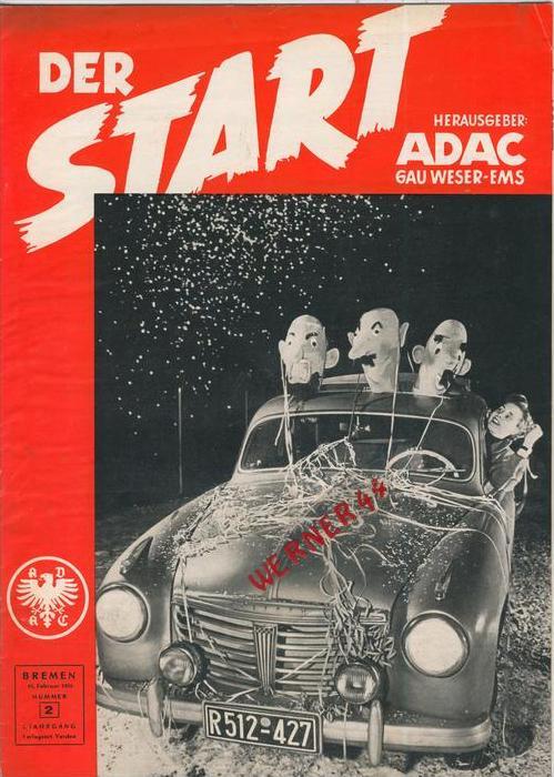 ADAC Gau Weser-Ems, Der Start  1955 - Nr. 2 -- siehe beschr. !!