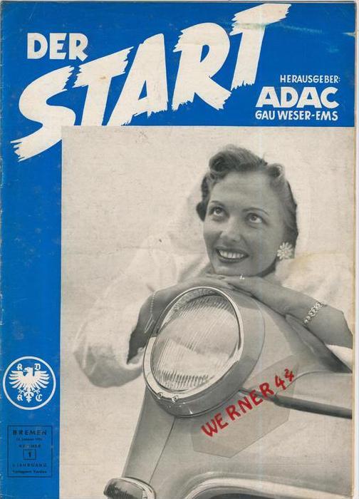ADAC Gau Weser-Ems, Der Start  1955 - Nr. 1 -- siehe beschr. !!