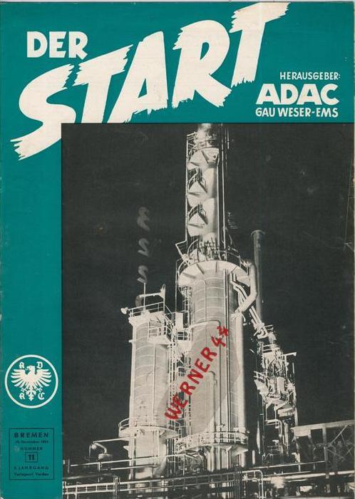 ADAC Gau Weser-Ems, Der Start  1954 - Nr. 11 -- siehe beschr. !!