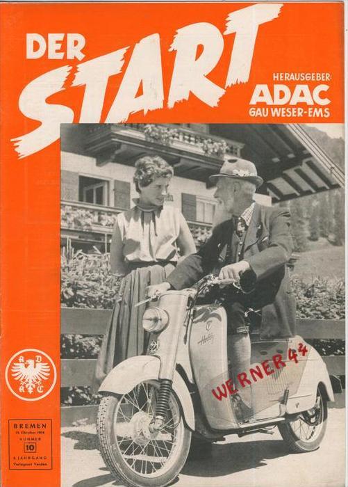 ADAC Gau Weser-Ems, Der Start  1954 - Nr. 10 -- siehe beschr. !!