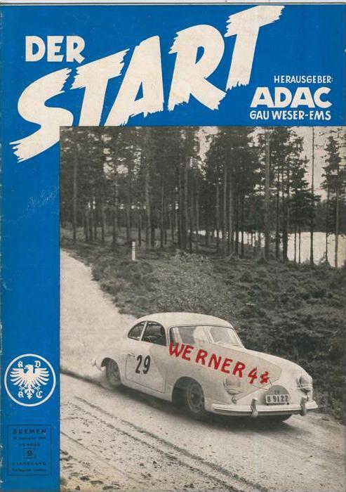 ADAC Gau Weser-Ems, Der Start  1954 - Nr. 9 -- siehe beschr. !!