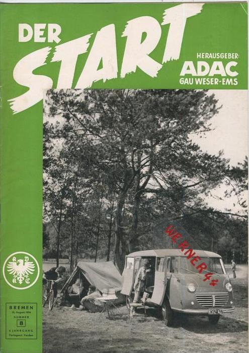 ADAC Gau Weser-Ems, Der Start  1954 - Nr. 8 -- siehe beschr. !!