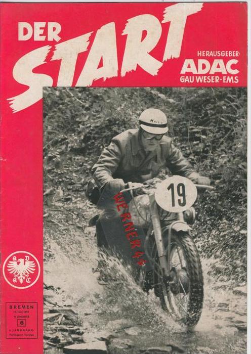 ADAC Gau Weser-Ems, Der Start  1954 - Nr. 6 -- siehe beschr. !!