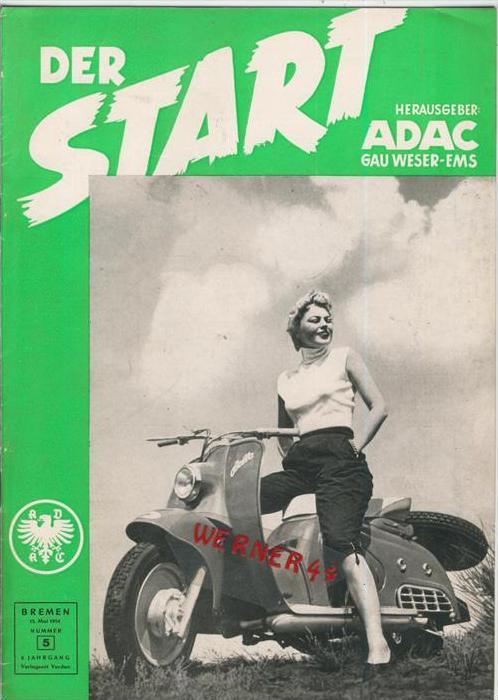 ADAC Gau Weser-Ems, Der Start  1954 - Nr. 5 -- siehe beschr. !!