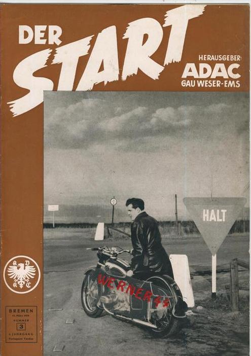 ADAC Gau Weser-Ems, Der Start  1954 - Nr. 3 -- siehe beschr. !!