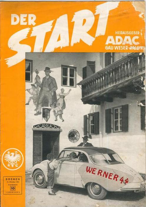 ADAC Gau Weser-Ems, Der Start  1953 - Nr. 10 -- siehe beschr. !!