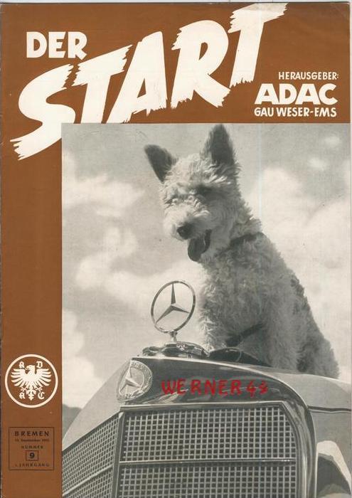 ADAC Gau Weser-Ems, Der Start  1953 - Nr. 9 -- siehe beschr. !!