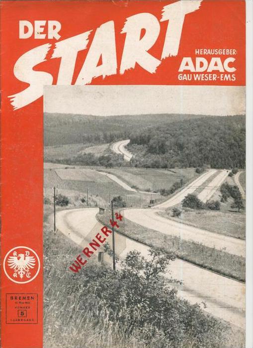 ADAC Gau Weser-Ems, Der Start  1953 - Nr. 5 -- siehe beschr. !!
