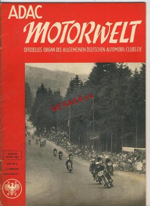ADAC Gau Weser-Ems, Der Start  1952 - Nr. 8 -- siehe beschr. !!